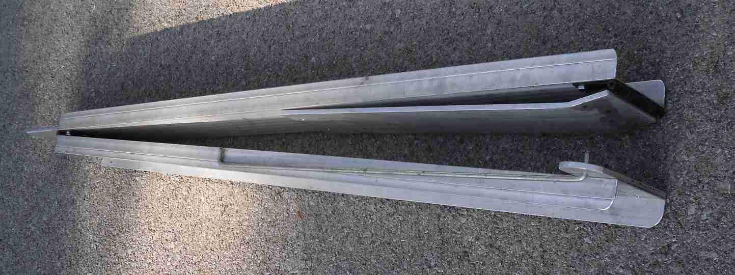 aluminum folding ramps folded 3 - Aluminum Ramps