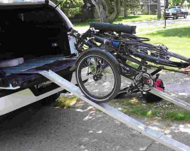 aluminum folding ramps with trike