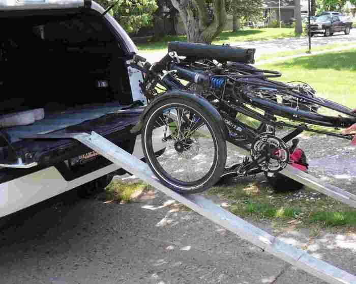 aluminum folding ramps with trike