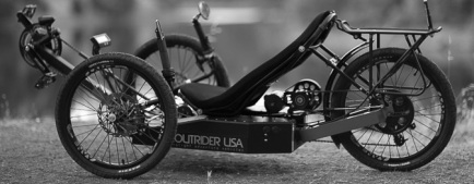 Outrider 422 Alpha Electric Trike left side view