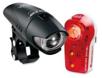Planet Bike headlight and taillight