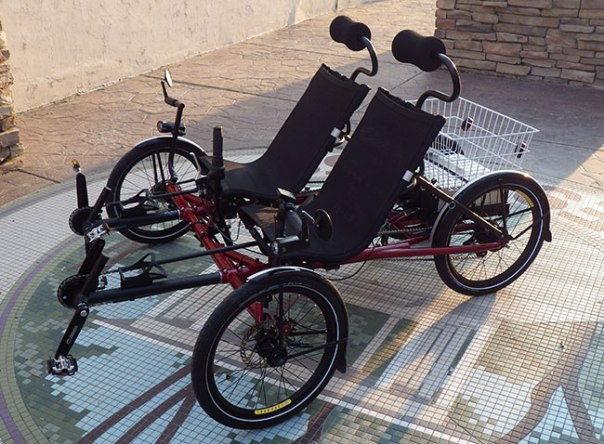 2 seater pedal electric trike
