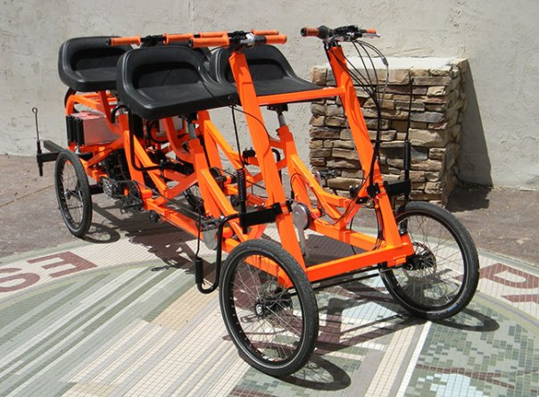 4 seater electric trike
