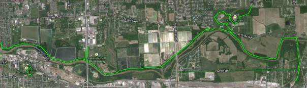 Maumee Pathway satellite image map