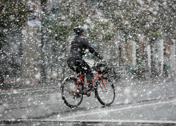 Riding Bike In Rain Tadpole Rider