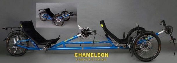 trident chameleon tandem recumbent trike