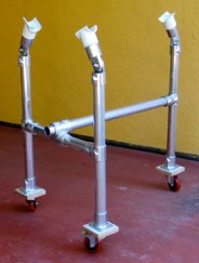 aluminum trike rack on wheels