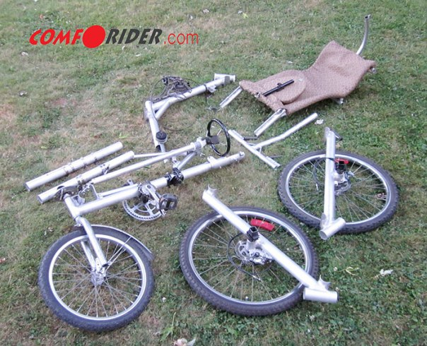 Comfortrider disassembled