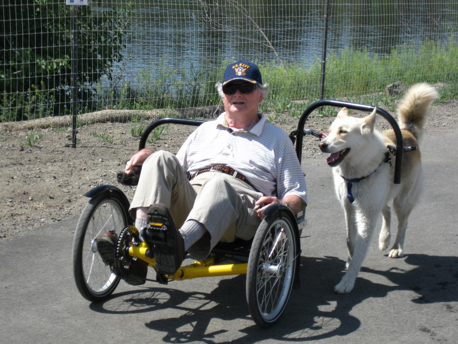 dog powered recumbent trike | Tadpole Rider