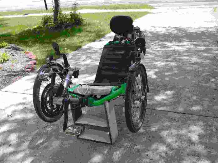 my front work stand with trike front view