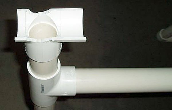 pvc fitting cutout