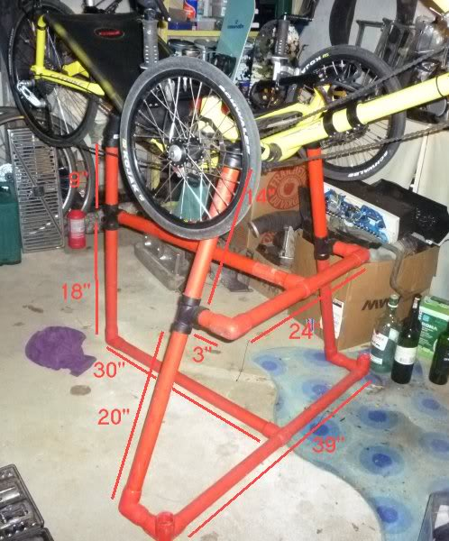 pvc work stand for catrike 700 3