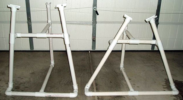 slanted out legs work stands