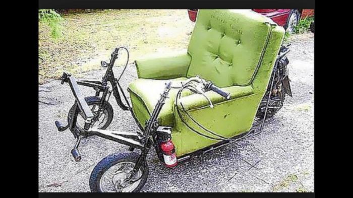 overstuffed chair trike