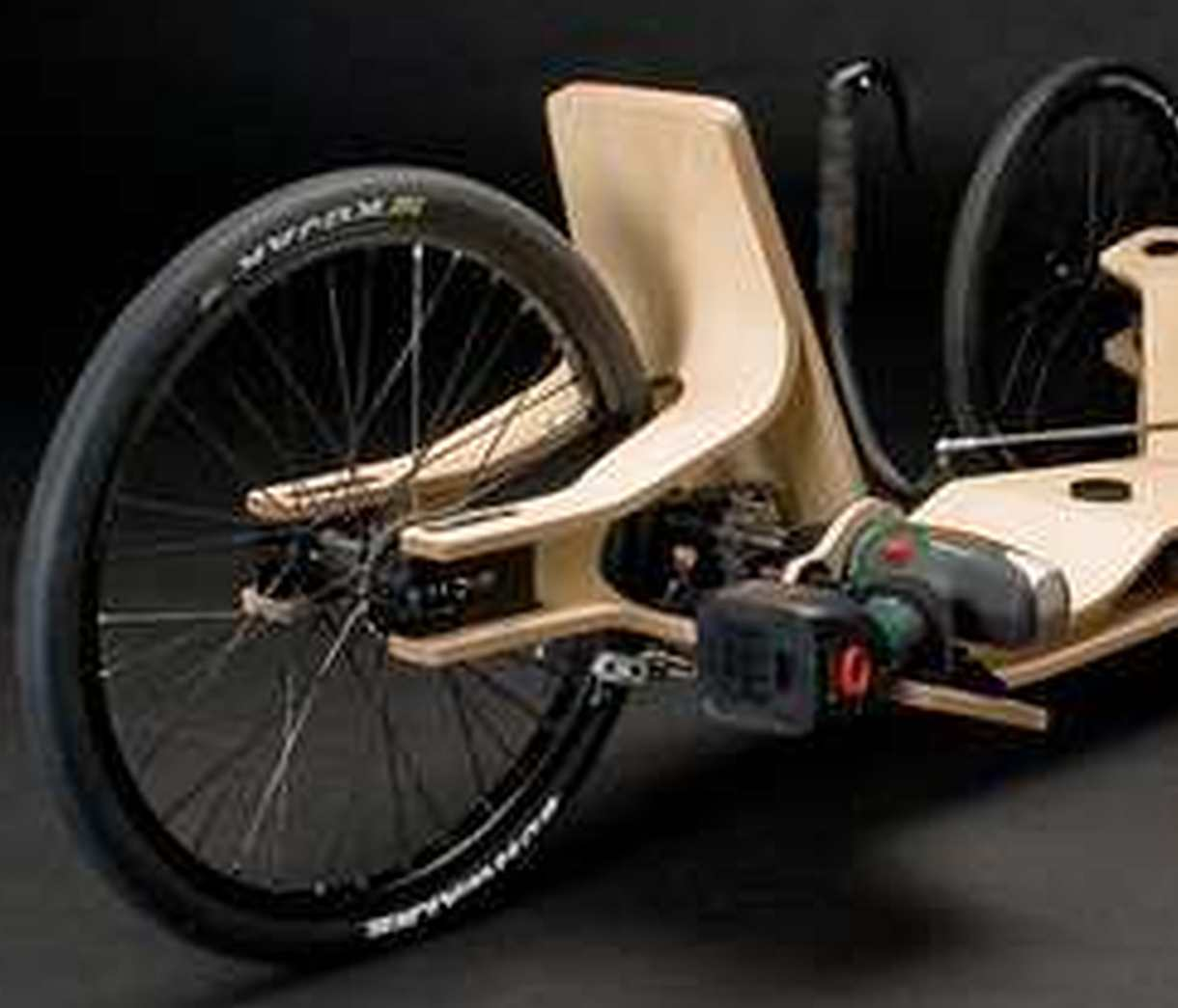 electric recumbent trike race wood tadpole rider. Black Bedroom Furniture Sets. Home Design Ideas