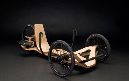 electric screwdriver powered recumbent trike