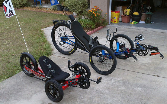 kid's trike and adult trike