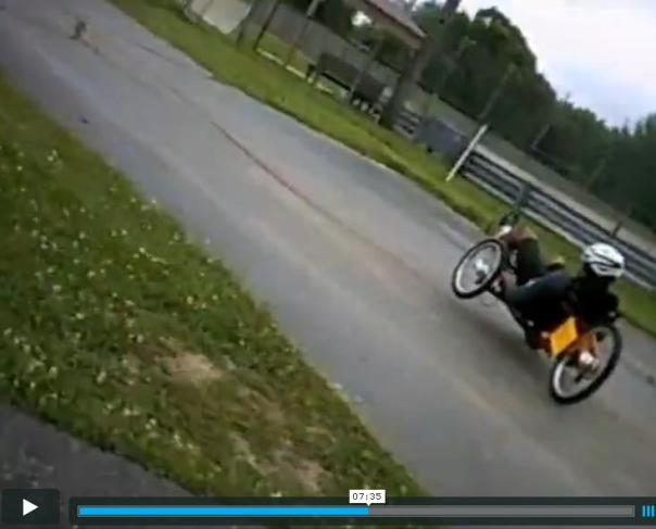 ooops ... wipe out on trike 2