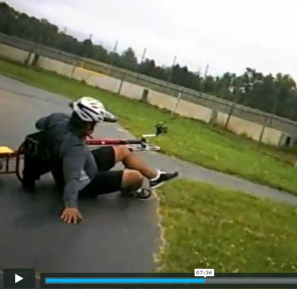 ooops ... wipe out on trike 7