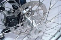 disc brake on tadpole trike