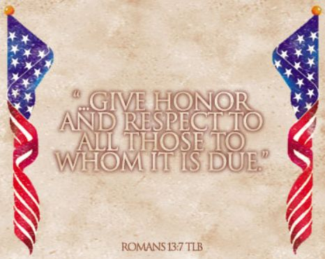 give honor & respect