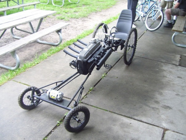 pedal power dragster with flames 2