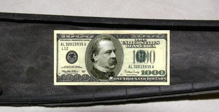 $1000 bill emerrgency tire boot