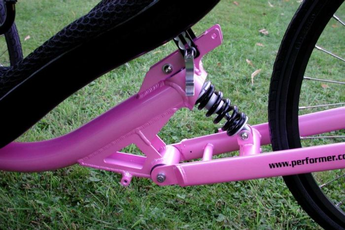 rear suspension closeup