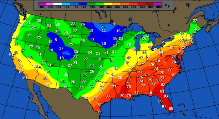 us weather map