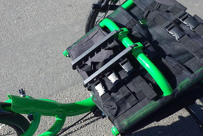 UT Catrike seat extenders seat folded forward