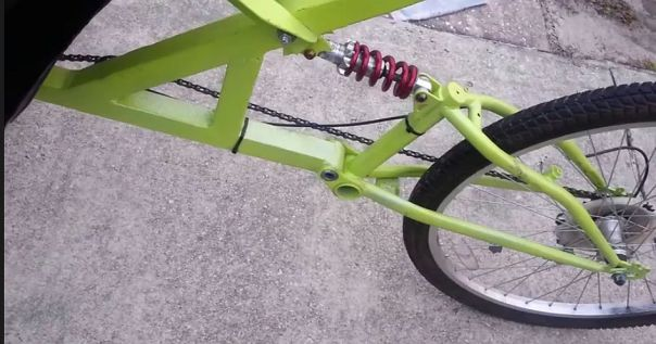 $45 DIY tadpole trike back half side view