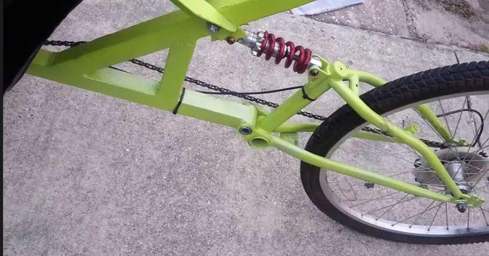 $45 DIY tadpole trike back half side view