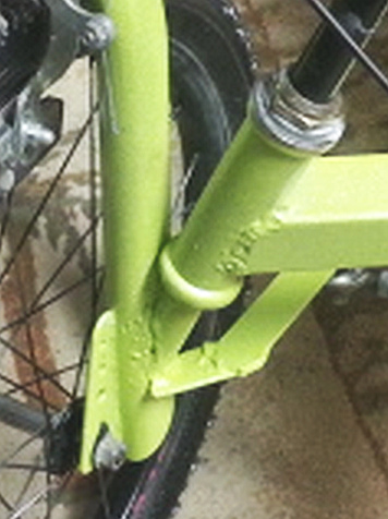 $45 DIY tadpole trike headset detail cropped