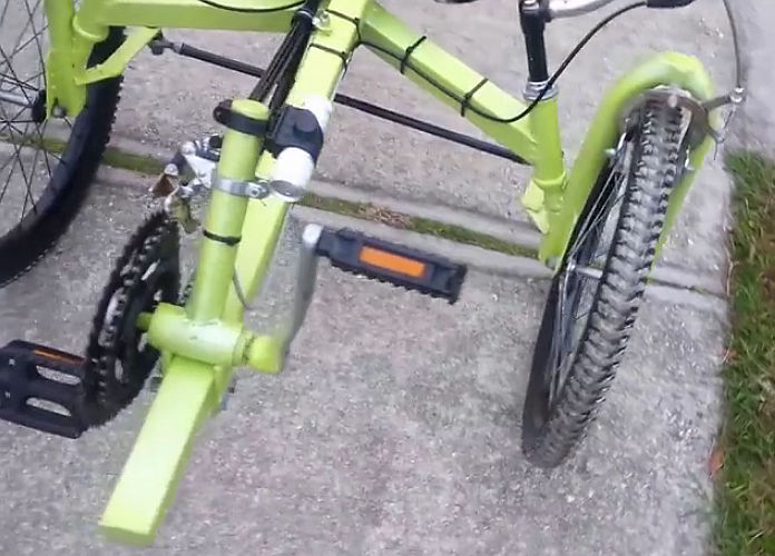 $45 DIY tadpole trike top front view