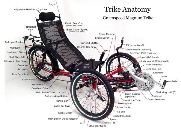 greenspeed trike anatomy 2