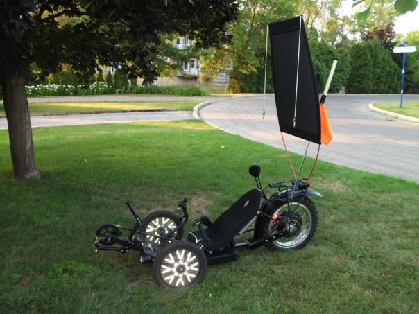 KMX motorized with canopy raised up