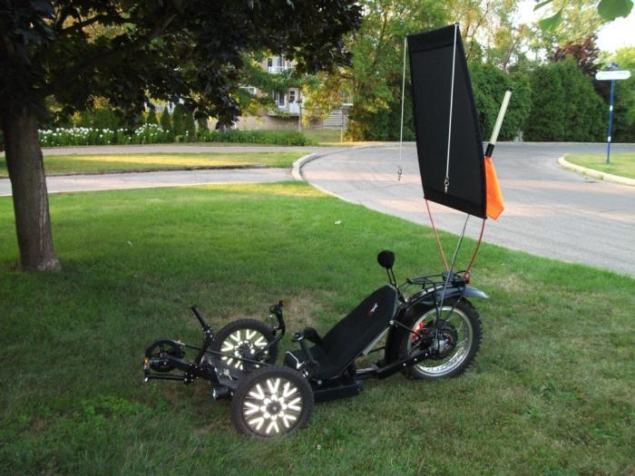KMX motorized with canopy raised up