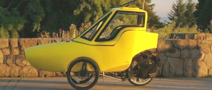 tripod velomobile left side view
