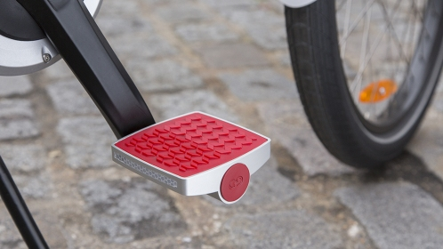 A GPS sensor inside lets you track your bike if it's been moved.