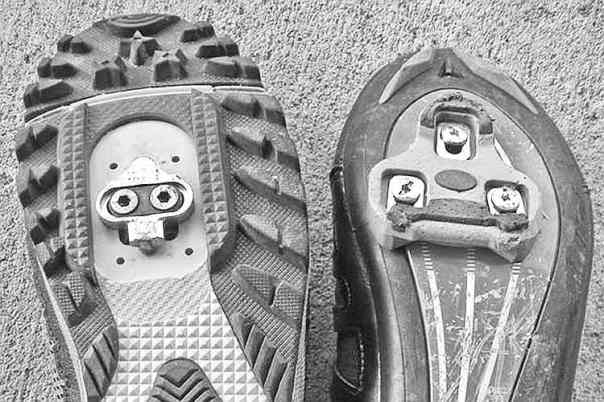 SPD road and mountain shoe comparison