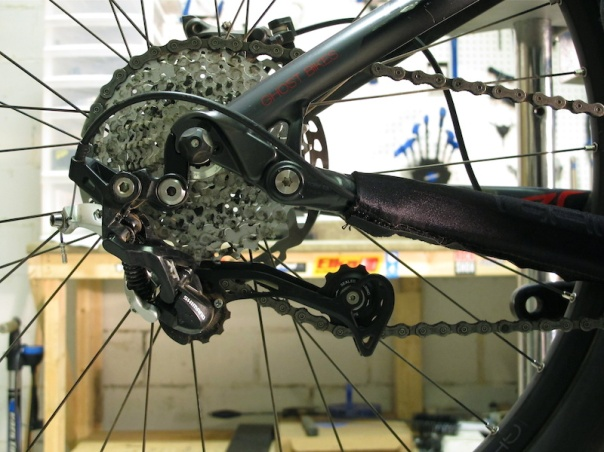 rear derailleur beyond capacity