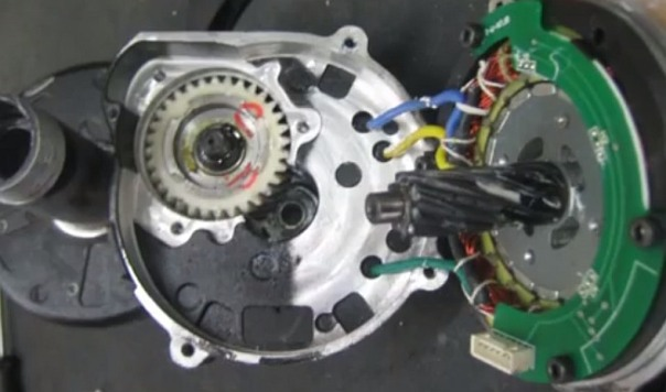 Bafang electric motor inside