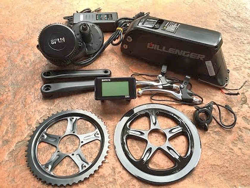 48V 750W 8fun Bafang Mid Drive Motor Electric Bike Conversion Kit
