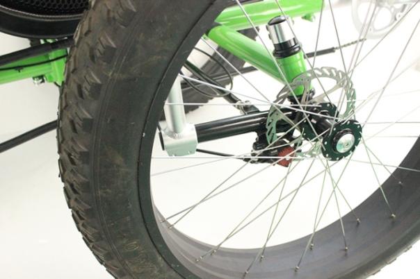 hartlander fat trike right front wheel