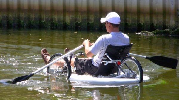 Trike Boat in water