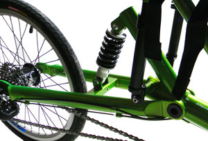 Utah Trikes FS Revolution Defiance rear suspension