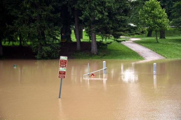 floodgate in W. Sweeney Park