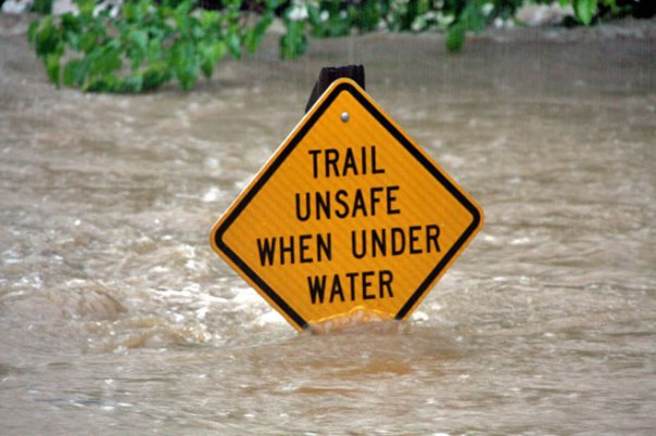 trail may be under water