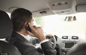 motorist on cell phone