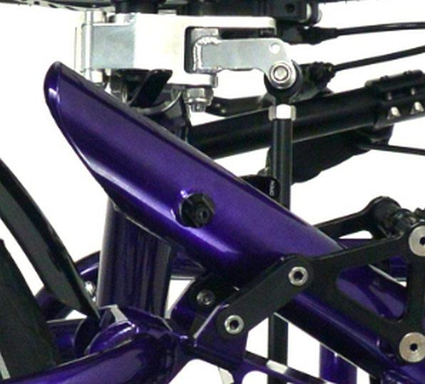 Catrike Dumont front suspension top view